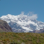 Aconcagua view from Horcones